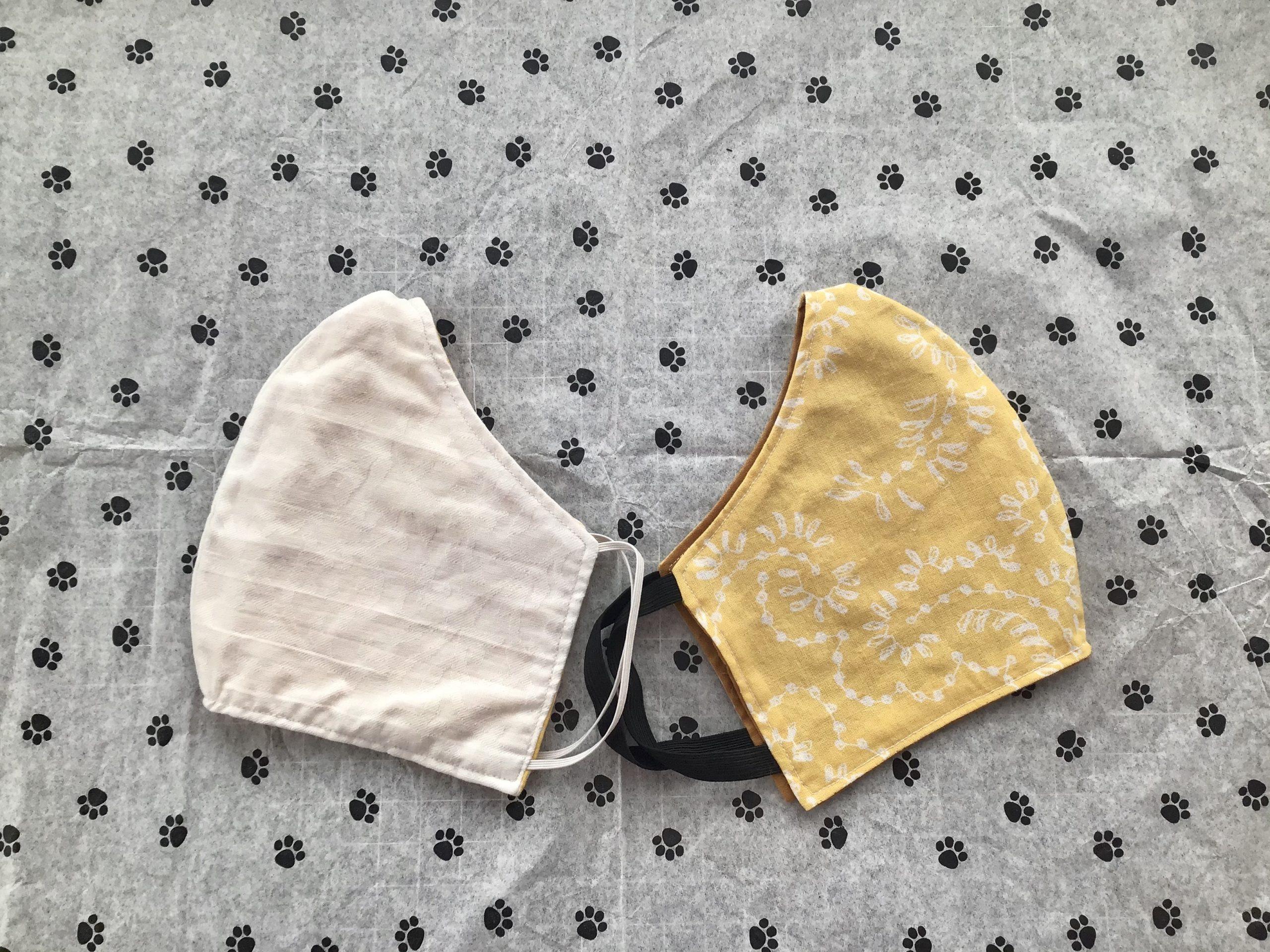 Yellow and Cream Mask